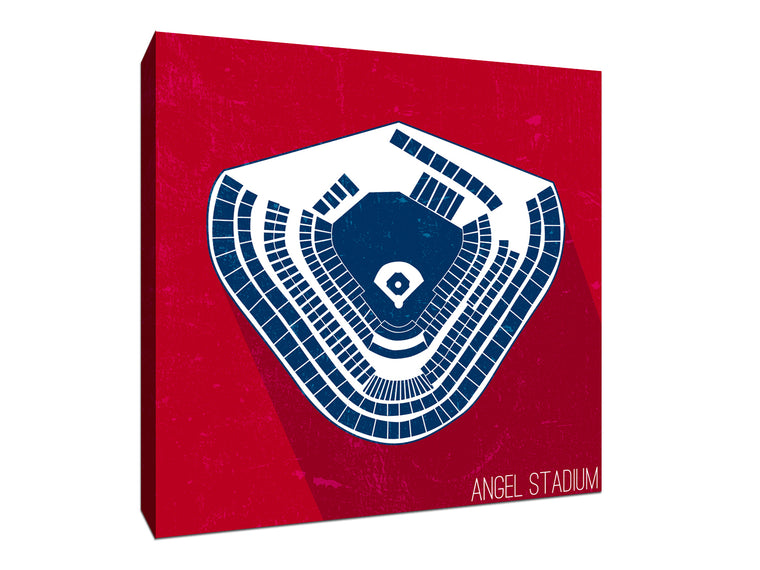 Los Angeles (A) Baseball Ballpark Seat Map Canvas