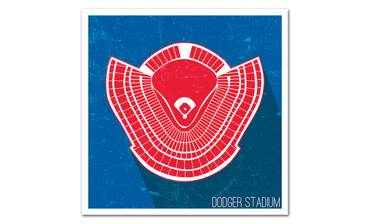 Los Angeles Baseball Ballpark Seat Map Poster