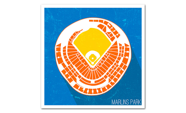 Miami Baseball Ballpark Seat Map Poster