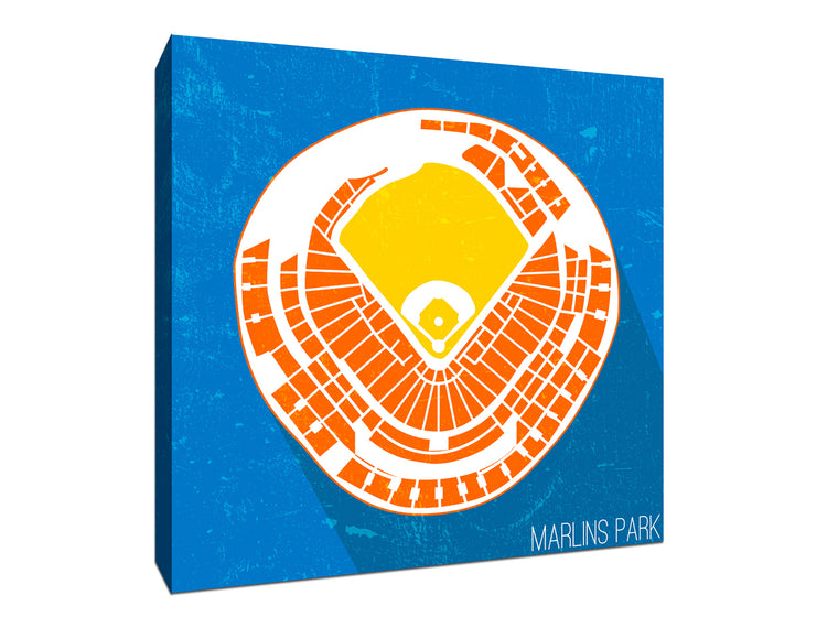 Miami Baseball Ballpark Seat Map Canvas