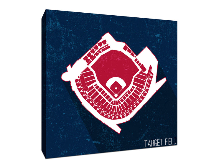 Minnesota Baseball Ballpark Seat Map Canvas