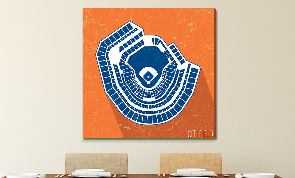 New York (M) Baseball Ballpark Seat Map Canvas