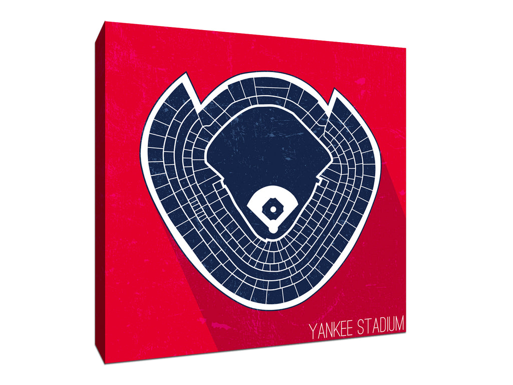 New York (Y) Baseball Ballpark Seat Map Canvas