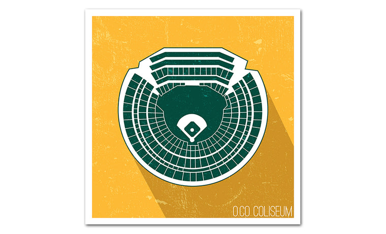 Oakland Baseball Ballpark Seat Map Poster
