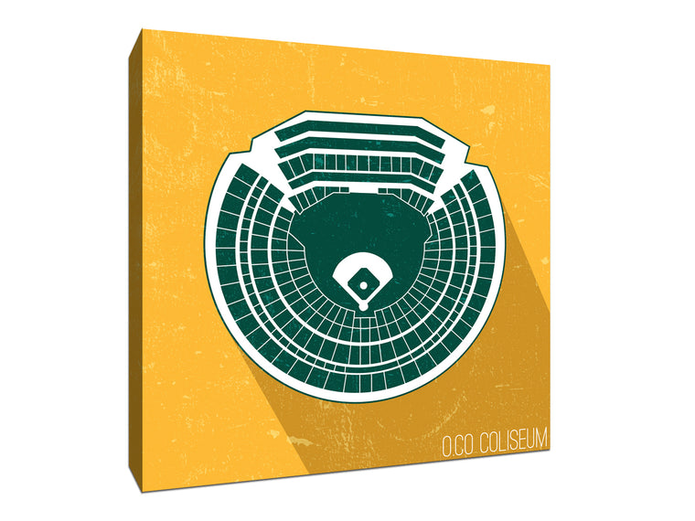 Oakland Baseball Ballpark Seat Map Canvas