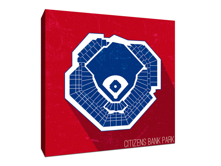 Philadelphia Baseball Ballpark Seat Map Canvas