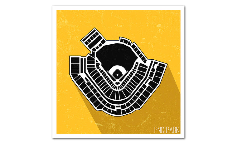 Pittsburgh Baseball Ballpark Seat Map Poster