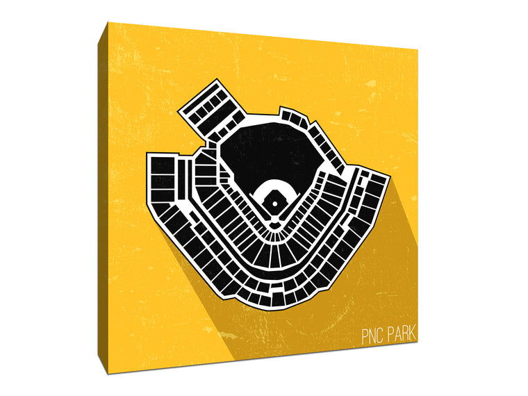 Pittsburgh Baseball Ballpark Seat Map Canvas