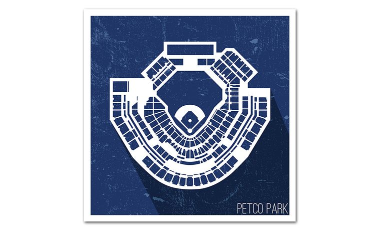 San Diego Baseball Ballpark Seat Map Poster