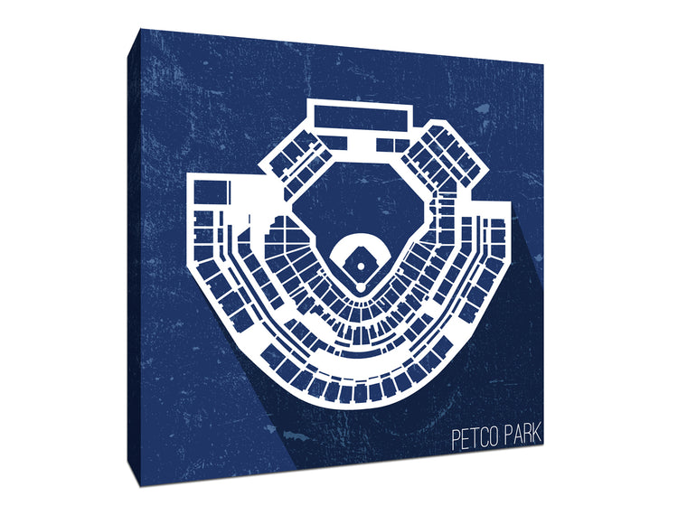 San Diego Baseball Ballpark Seat Map Canvas