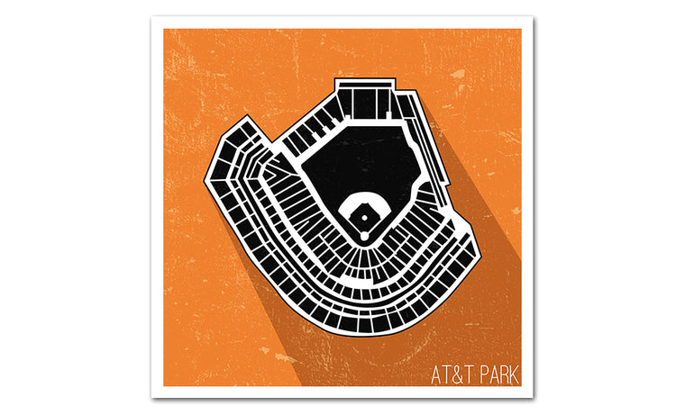 San Francisco Baseball Ballpark Seat Map Poster