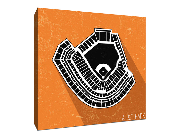 San Francisco Baseball Ballpark Seat Map Canvas