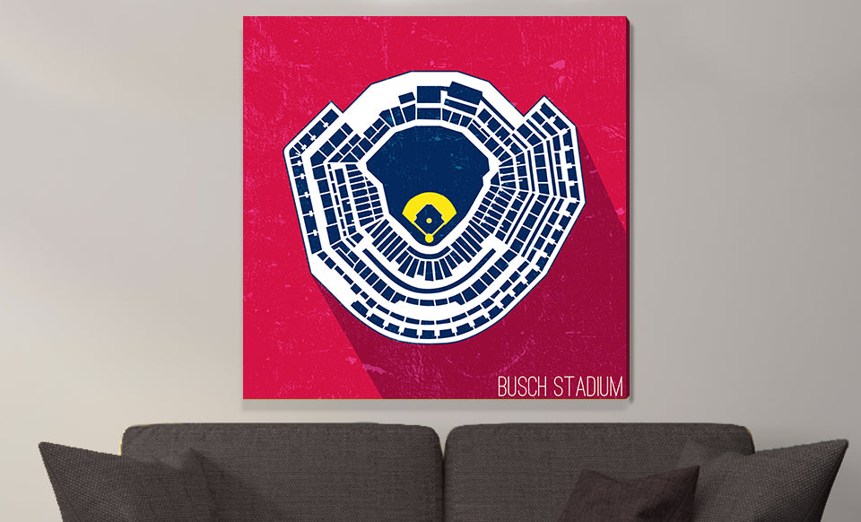 St. Louis Baseball Ballpark Seat Map Canvas