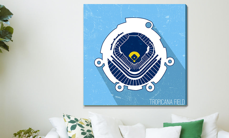 Tampa Bay Baseball Ballpark Seat Map Canvas