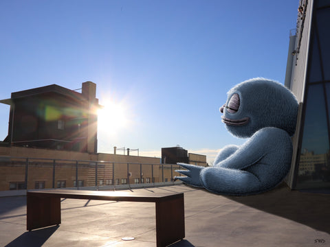 WHITNEY MUSEUM SUNBATHER