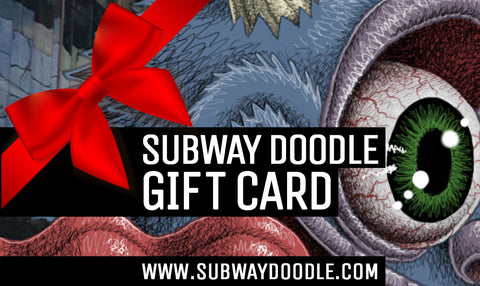 SUBWAY DOODLE GIFT CARD