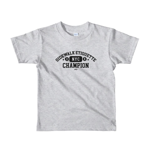 "KID's (2yr - 6yr) ""Sidewalk Etiquette Champion"" Short-Sleeve T-Shirt"