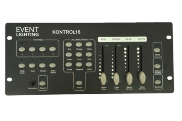 Event Lighting - KONTROL16 4 X RGBW FIXTURE DMX CONTROLLER
