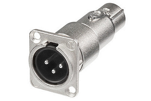 Neutrik NA3MDF XLR Pass-through Panel Mount Connector - Male to Female