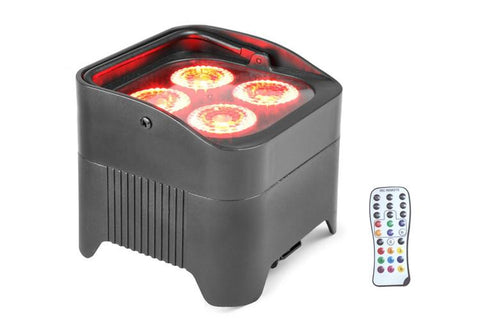 PAR4X12B - BATTERY PARCAN WITH WIRELESS DMX & WIFI CONTROL