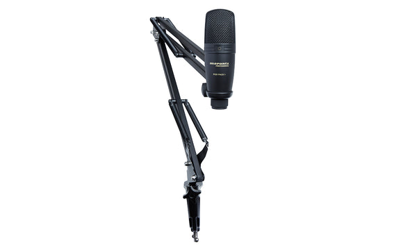 Marantz PODPACK1 USB Microphone with Broadcast Stand and Cable