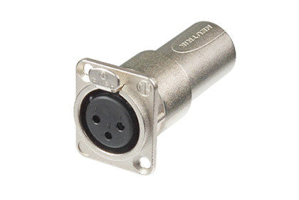 Neutrik NA3FDM XLR Pass-through Panel Mount Connector - Female to Male