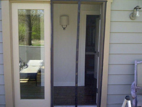 We use Magic Mesh on our door leading to our back porch. This way our dog can get out but bugs can\u0027t get in. It works great it took my husband and ... & Magnetic Portable Magic Mesh Screen Door \u2013 EasyHurry