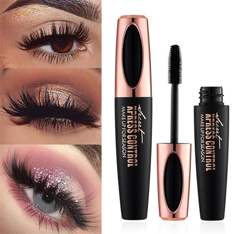4D Silk Fiber Eyelash Mascara Waterproof Lengthening Eye Lashes