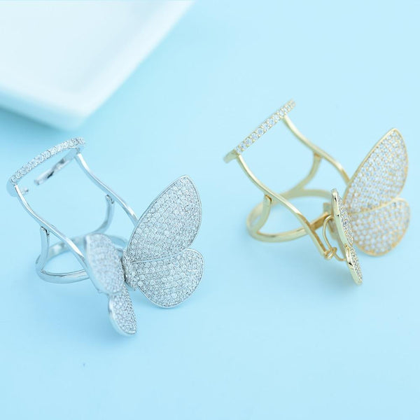 Butterfly Ring With Moving Wings