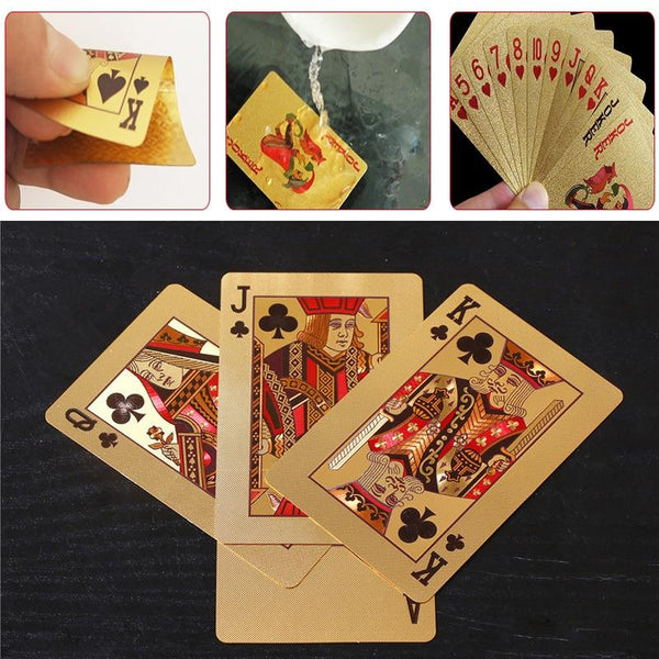 Waterproof PVC Plastic Playing Cards Set 54 Pcs Deck Poker