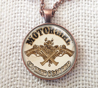 COCKED & LOADED PENDANT NECKLACE - MotorCult
