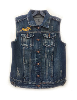 MOTORGIRL KUSTOMS - GYPSY DENIM VEST - MotorCult