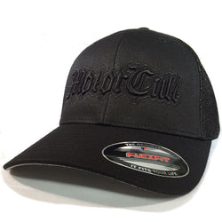 STERLING - FLEXFIT TRUCKER HAT BLACK / BLACK - MOTORCULT