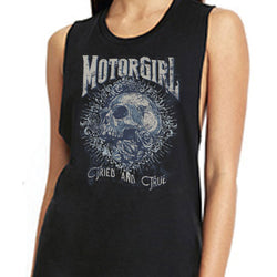 GIRLS AND ROSES - MUSCLE TANK TOP - MOTORGIRL - MotorCult