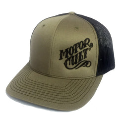 HIGH VOLTAGE - SNAPBACK TRUCKER HAT LODEN/BLACK - MOTORCULT - MotorCult