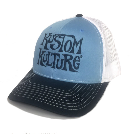 KUSTOM KULTURE - SNAP BACK TRUCKER HAT NAVY/LIGHT BLUE/WHITE - MotorCult