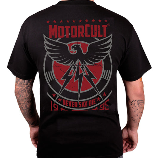 NEVER SAY DIE - MENS T-SHIRT - MOTORCULT - MotorCult