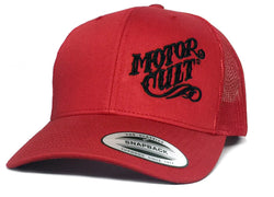 RED HIGH VOLTAGE - SNAP BACK TRUCKER HAT - MOTORCULT - MotorCult
