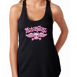 LITTLE WING - GATHERED RACER BACK TANK TOP - MOTORGIRL - MotorCult