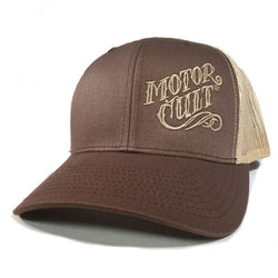 HIGH VOLTAGE - SNAPBACK TRUCKER HAT BROWN - MOTORCULT - MotorCult