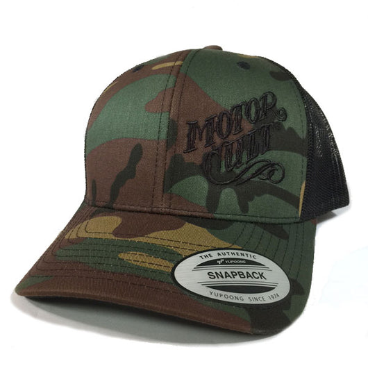 HIGH VOLTAGE - SNAPBACK TRUCKER HAT CAMO - MOTORCULT - MotorCult