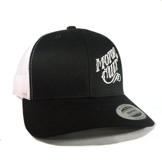 HIGH VOLTAGE - SNAPBACK TRUCKER HAT WHITE/BLACK - MOTORCULT - MotorCult