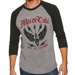 RIDE THE LIGHTNING RAGLAN 3/4 SLEEVE BASEBALL JERSEY - MotorCult