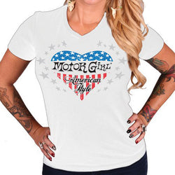 AMERICAN STYLE V-NECK TEE - MotorCult