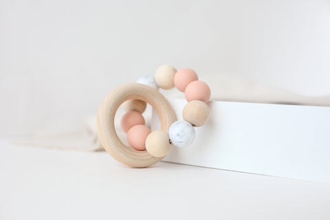 Original Teether Toy in Peach