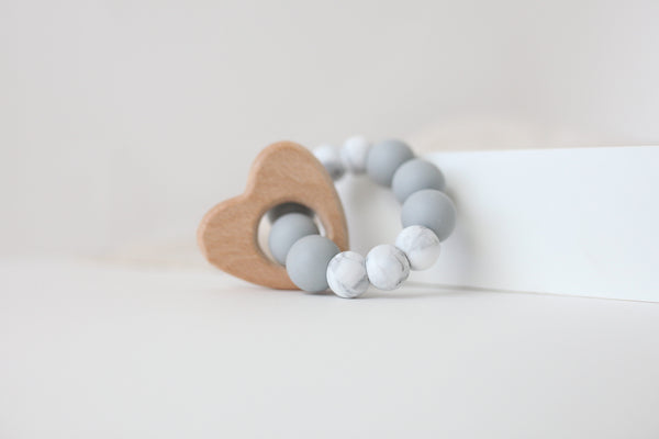 Marble Heart Teether Toy