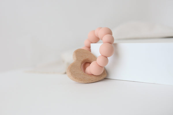Peach Bubbles Teether Toy