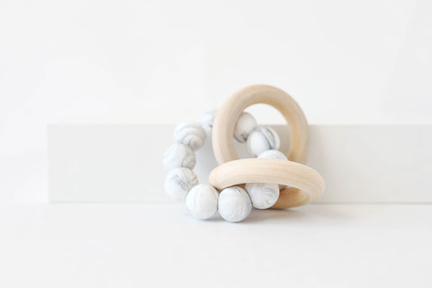 All Marble Rattle Teether Toy