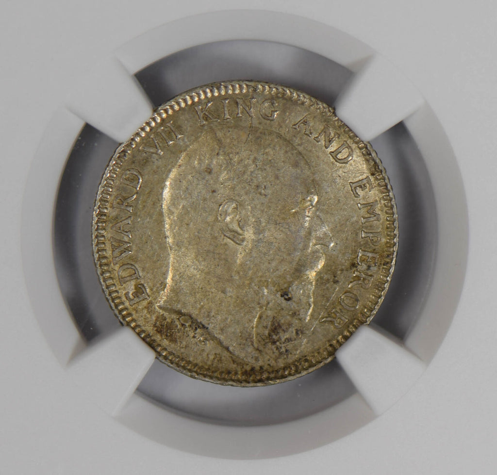British India 1903 C 1/4 Rupee silver NGC MS63 NG0776 combine shipping