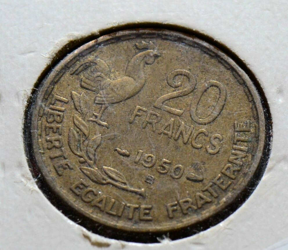 France B Y99 RY 1950 20 Francs VF F0010 combine shipping